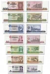 DDR Geldscheine 1971 - 1989 , 5 bis 500 DDR Mark, Reproduktion