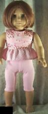"""Doll Clothes Made 2 Fit American Girl 18"""" inch Blouse Leggings Set Pink Quilt"""
