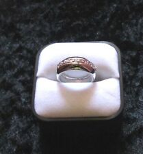 ISBN RS-R-05 Silver and Light Pink CZ Ring  £45.00