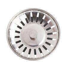 Stainless Steel Kitchen Basin Drain Dopant Sink Strainer Basket Waste Filter
