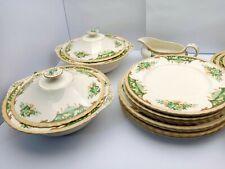 "RARE Myott Staffordshire Part dinner set 1930 art deco pattern - ""Greenland"""