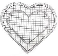 Grabschmuck Herz Gitter ohne Füllung - Allerheiligen Allerseelen Grabdeko Deko