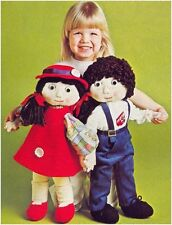 Jack & Jill Rag Dolls DIAGRAM Sewing Pattern Instructions NOT DOLLS S10028
