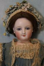 "French 15"" Swivel head Empress Eugenie Smiling Bru Doll Wearing Antique Fashion"
