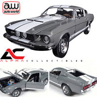 """AUTOWORLD AMM1060 1:18 1967 FORD SHELBY MUSTANG GT350 GRAY """"50TH ANN EDITION"""""""