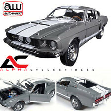 "AUTOWORLD AMM1060 1:18 1967 FORD SHELBY MUSTANG GT350 GRAY ""50TH ANN EDITION"""