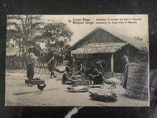 1914 Belgian Congo Real Picture Postcard Cover RPPC Paling Fish In The Mayumbe