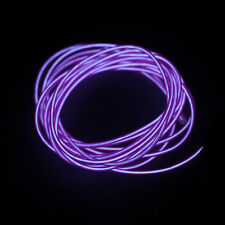 5m Flash Flexible Neon LED Light Glow El Strip Tube Wire Rope Car Party Light P6 Purple 4m With Controller