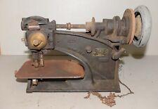 Rare antique Usmc Model 1891 leather saddle maker industrial sewing machine tool