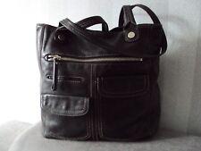 Fossil Extra Large Shoulder Bag Black Leather Vgc