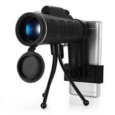 40X60 Monocular Telescope HD BAK4 Prism Scope with Compass Phone Clip Tripod New