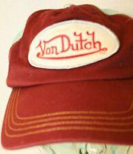 Von Dutch Patch Burgundy Maroon Red Blue Mesh Dad Trucker Snapback Hat Cap