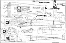 CAMBRIA FW190 FUN FIGHTER plan set
