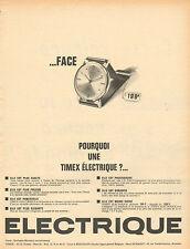 Publicité Advertising 1964 Montre TIMEX ELECTRIQUE