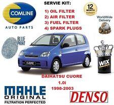 para Daihatsu Cuore 1.0 1998-2003 FILTRO DE AIRE Y ACEITE + Bujías Kit
