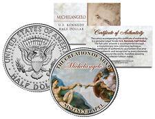 MICHELANGELO * Creation of Adam * SISTINE CHAPEL Colorized JFK Half Dollar Coin