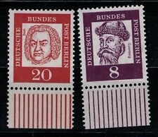 Berlin Mi. - Nr. 201 und 204 mit Unterrand postfrisch