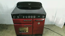 Rangemaster 90 cm Classic Induction/Electric Range Cooker - Red Cranberry
