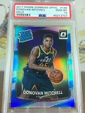 2017-18 Donruss Optic Donovan Mitchell Silver Holo Rookie RC Refractor PSA 10