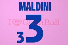 Maldini #3 EURO 2000 Italy Awaykit Nameset Printing