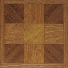 Brown Wood Vinyl Floor Tiles 20 Pcs Self Adhesive Flooring - Actual 12' x 12''