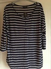 Viscose 3/4 Sleeve Regular Striped Tops & Shirts for Women
