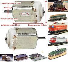 MICRO MOTORE 4,5-10Vcc Asse mm.2 mm.25x19 RIPARAZIONE-MOTORIZZAZIONE LOCOMOTORI
