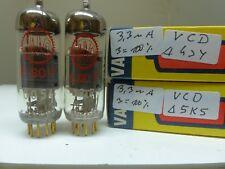 matched pair E80F Valvo Red VCD Code NOS/NIB TESTET TUBE VALVOLA RÖHRE Rare