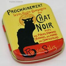 Minidöschen/mini lata/lata Steinlen gato negro * chat noir *
