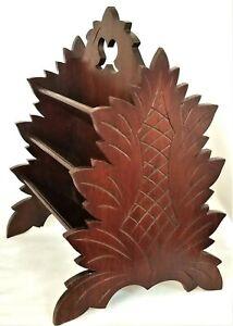 Victorian DESK CADDY, Naturalistic, walnut, stylized leaf motif, c1880, 13.5t