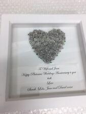 Silver Platinum Wedding Anniversary Gift,Box Frame, 25 Year Wedding Anniversary