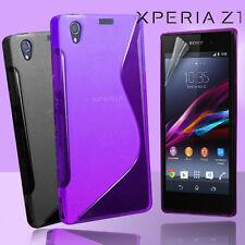 2 Colour Premium Jelly Case Cover for Sony Xperia Z1 Z 1 / L39h Screen Guard