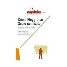 Como Elegir a Su Socio con Exito by Sergio Manis (2001, Paperback)