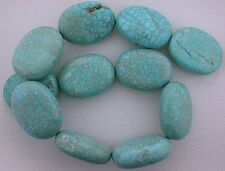 "40x30 Oval Blue Matrix Magnesite Turquoise Bead 16"" Gem Stone Strand 40mm x 30mm"