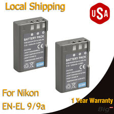 USA Local 2x Battery EN-EL9A Decoded for Nikon D40 D40x D60 D3000 5000 EN EL9