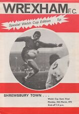 Mar 75 WREXHAM v SHREWSBURY TOWN Welsh Cup semi final