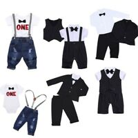 Baby Boys Gentleman Formal Suit Outfits Toddler Party Wedding Pageant Clothes