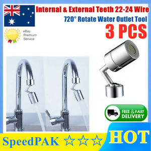 Universal Splash Filter Faucet Home Kitchen 720° Rotate Water Outlet Tool AU 3PC