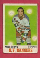 1970-71 OPC  # 66 RANGERS ARNIE BROWN  CARD