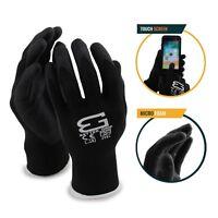 Better Grip Flex BGFLEXMF MicroFoam Work Gloves Work For Smart Phone (Black)