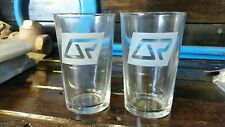 2x Queensland railway Traveltrain Glass. Rail Collectable.