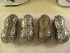 Lot of Four (4) Vintage F.B. Rogers Silverplate Peanut Shaped Candy Lidded Bowls