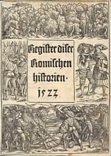 Titelblatt Titus Livius mit Holzschnittbordüre 1522 ORIGINAL!