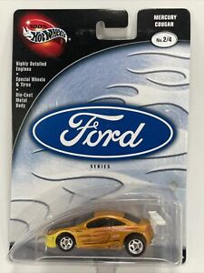 2002 Hot Wheels 100% MERCURY COUGAR 2/4 gold/yellow ford FREE SHIPPING