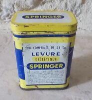 Ancienne boite Métal Levure SPRINGER Publicité Pharmacie Collection Tin Box #2