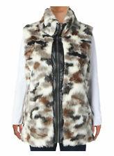 SIONI Womens New $108 Faux Fur Outerwear Fashion Vest Jacket Coat M Medium 8 10