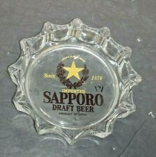 Collectible Sapporo Draft Beer Advertising Ashtray