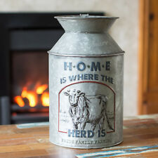 28cm Tall Vintage Cow Herd Decorative Milk Churn Artificial Flower Vase Pot Jug