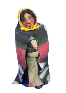 """Mary Francis Woods Mother and Baby American Indian Doll Large Vintage 11.5"""""""