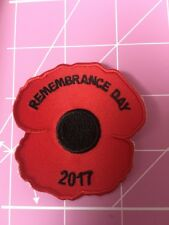 Remembrance Day 2017 Poppy Badge/ Patch Guides Scouts Boys / Girls Brigade.